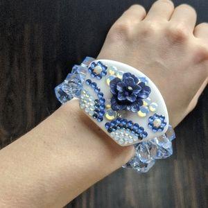 Tarina Tarantino blue China two-tier bracelet